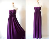 Dress for bridesmaid Purple