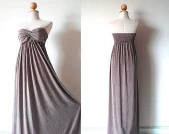 Bridesmaid Dresses, Taupe with sparkling Bridesmaid Prom Dress, Bridesmaid Dresses, Prom Dresses