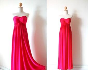 Bridesmaid Dresses, Hot Pink Bridesmaid Prom Dress, Bridesmaid Dresses, Prom Dresses
