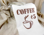 Coffee Flour Sack Towel - Hand Towel - Kitchen Towel - Custom Tea Towel