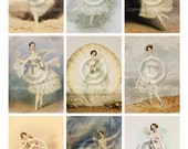Fairy Ballerinas ATC backgrounds Collage Sheet Printable Digital File Download Instantly