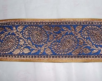 Blue Brocade Lace