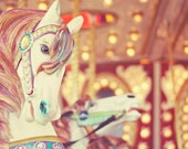 Carnival Fine Art Photography retro vintage carousel horse photo print nursery baby children kids photo print wall art