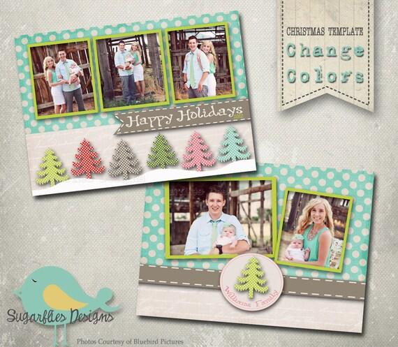 Christmas Card Template For Photoshop Christmas Card Photoshop