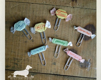 CLEARANCE! You're My Sweet. Paperclips (Set of 7) -- (Vintage-Style, Coworker Gift, Summer, Organize, Gift Under 5, Candy, Fun Party Decor)