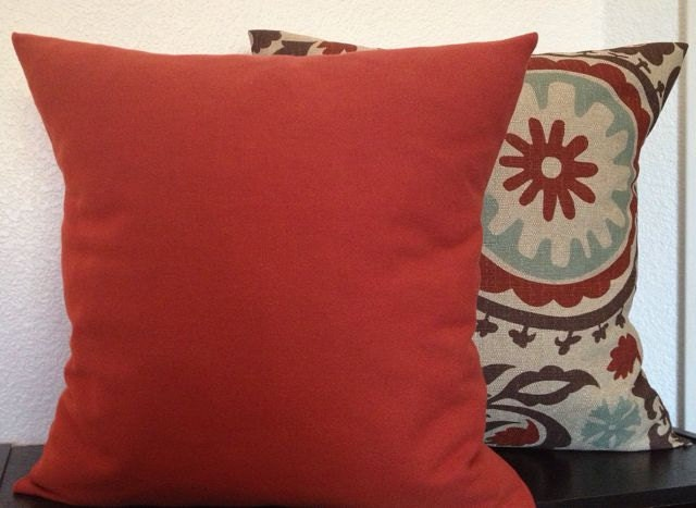Free US Shipping-Rust Pillow Cover Burnt Orange PillowThrow