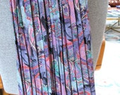 Accordion pleated skirt in pink. purple and blue