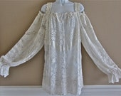 Boho Romantic Lace Gypsy/Pirate /Peasant Shirt Victorian And Ralph Lauren Inspired