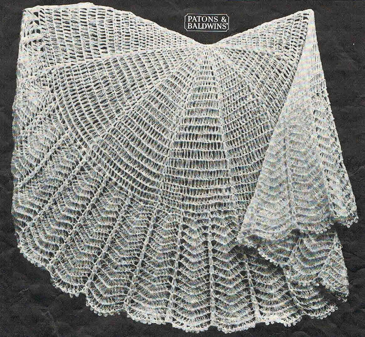 Free Knitting Pattern For A Baby Shawl : 40s style circular crochet baby shawl by VanessaLovesVintage