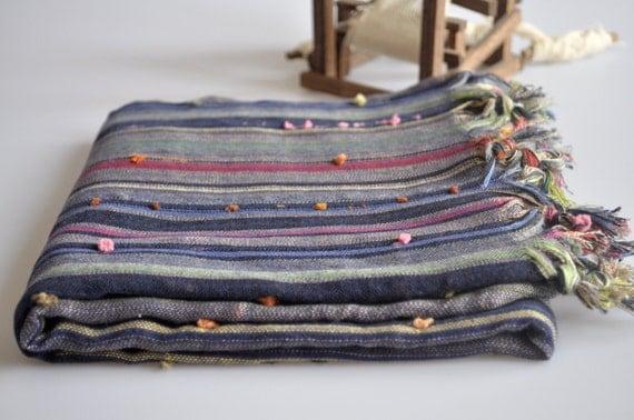 Turkish Bath Towel - Handwovwn Harem Peshtemal - Cotton Towel - Multicolor