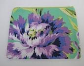 Zippered change purse, Amy Butler Love Bliss Bouquet Emerald
