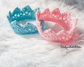 Newborn Crowns Boy and Girl Crochet Twins Photo Prop Set of Two