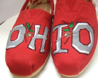 The Original OHIO STATE Buckeyes Made to Order Custom TOMS