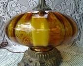 1960s amber glass lamp