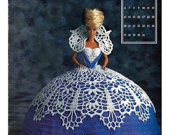 The Antebellum Collection Miss January 1991 Annies Calendar Bed Doll Society  Fashion Doll  Crochet Pattern  Annies Attic 7401