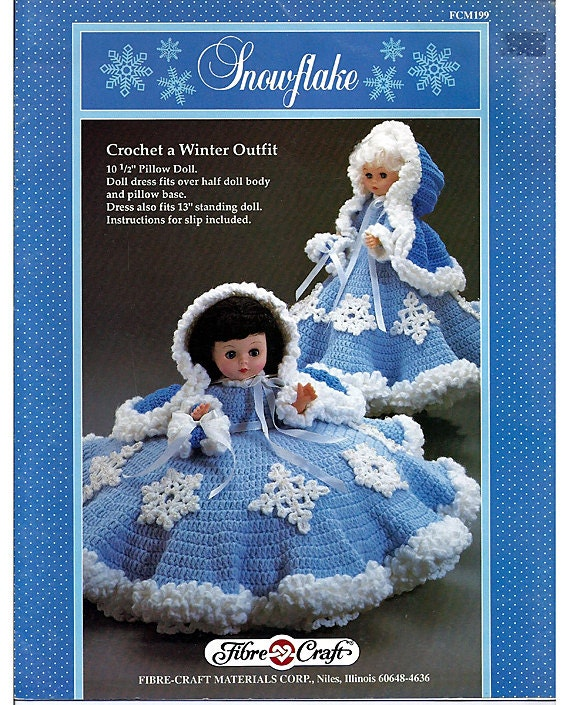Snowflake Pillow Doll Music Box Doll Or Bed By