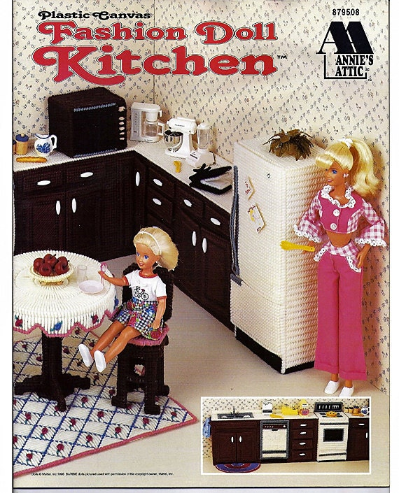 Fashion Doll Kitchen Plastic Canvas Pattern Annies Attic