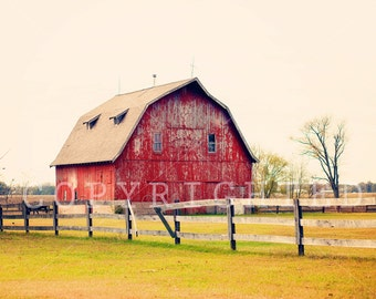 red barn color print (8x10)