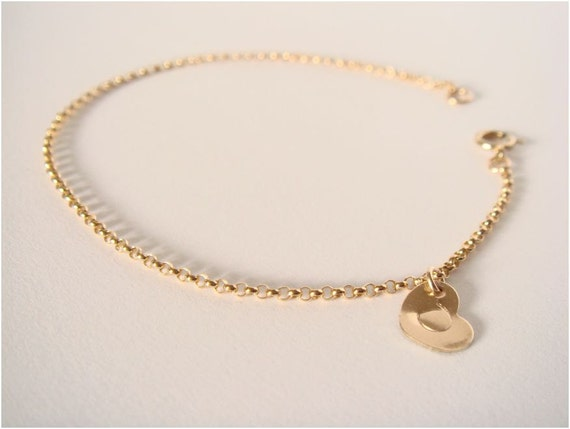 Personalized gold filled bracelet - 14K GOLD FILLED rolo chain