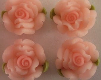 10 pcs 14 mm Polymer Clay Flower ,rose,Beads, FIMO, Pendant Charm craft jewelry Necklaces Earrings Bracelet Accessories -  k9
