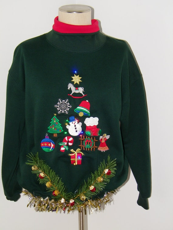 Vintage 80's Ugly Christmas Sweater Light by ...