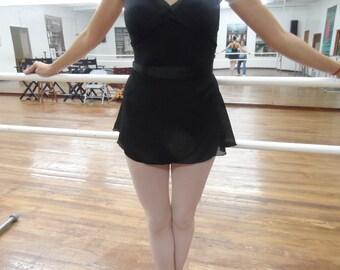 """Adult/Teen Short 14"""" Wrap Skirt, Pick WAIST 29"""", 32"""", 35"""" Many Colors, Ballet Skirt, Ballet Wrap Skirt, Dance Skirt, Ice Skating Skirt"""