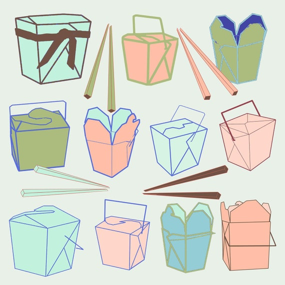 Chinese Take Out Clip Art 50% off sale 11 chinese take