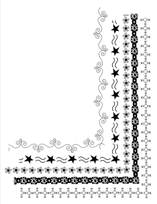 5 Doodle Frames 8.5 x 11 Clip Art Set Digital