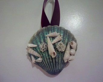 SALE! Ornaments & Favors- Personalized, Custom Made Coastal ChristmasOrnament/Party and Wedding Favors w.hand collected shells