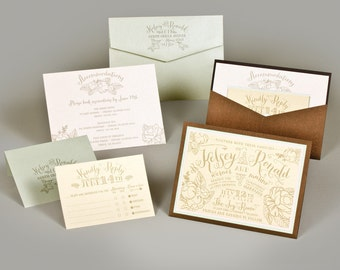 Wedding Invitation - Kelsey Collection