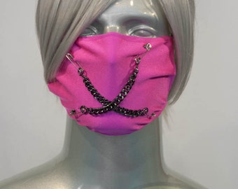 Hot Pink J-Rock Surgical Mask