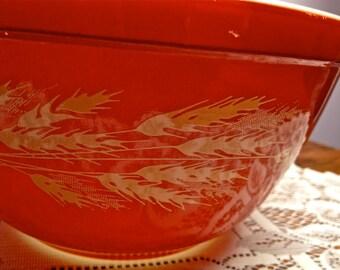 Vintage Pyrex  Autumn Harvest Bowl Number 402