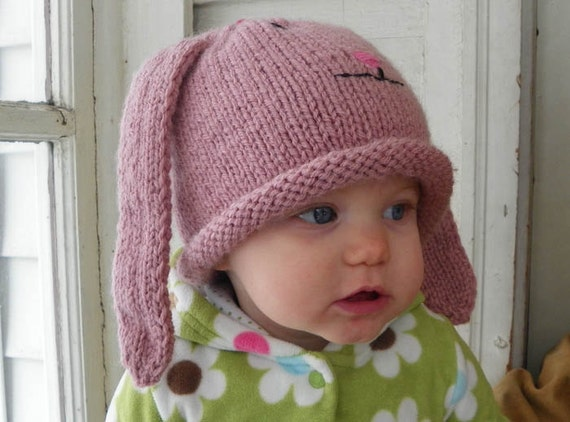 Flower Bunny Hat 1 year and up perfect for baby to toddler