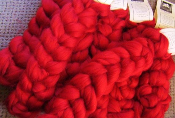 """1 Oz """"True Love"""" Wool Roving Braid Fiber for Spinning, blending, & more."""