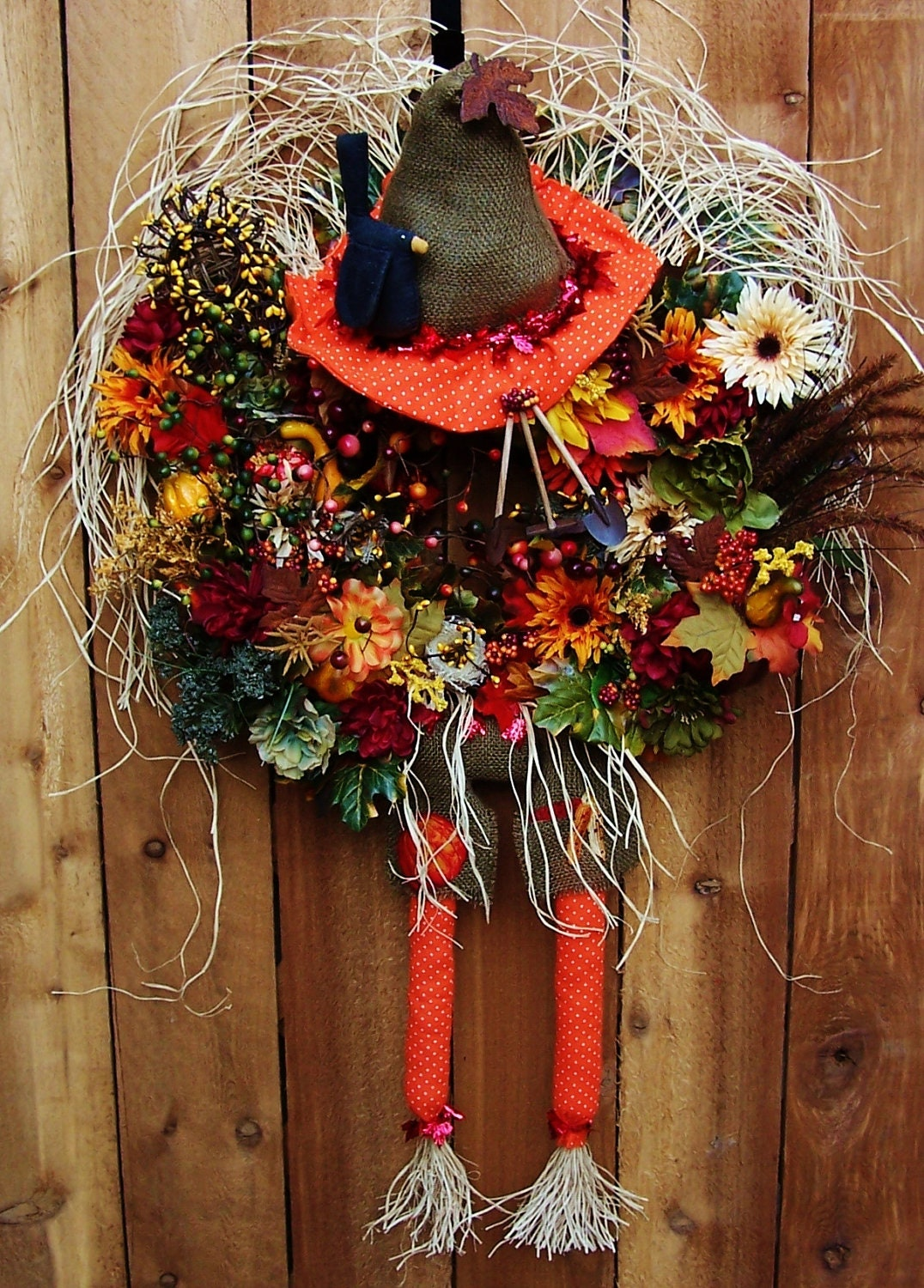Xxl fall wreath fall home decor fall door wreath fall door for Decoration xxl