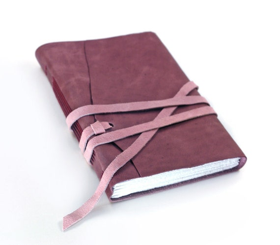 Dusty Purple Leather Journal, Purple Leather Journal / Notebook / Diary