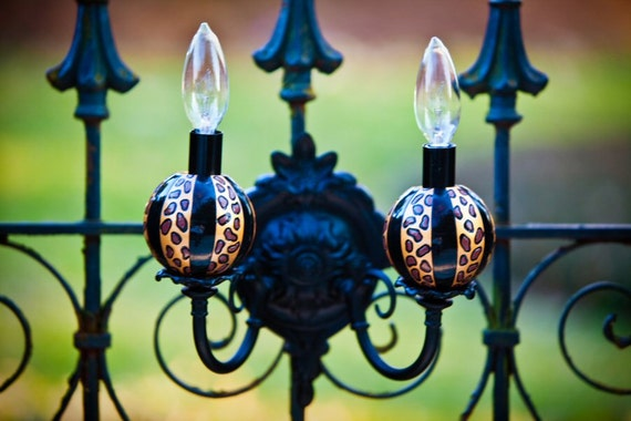 Cheetah, Leopard ChandiCharms, Ornaments for Chandelier, Sconces, Charms for Chandeliers, Lighting, Orbs, Wall Lights, Candles, Animal Print