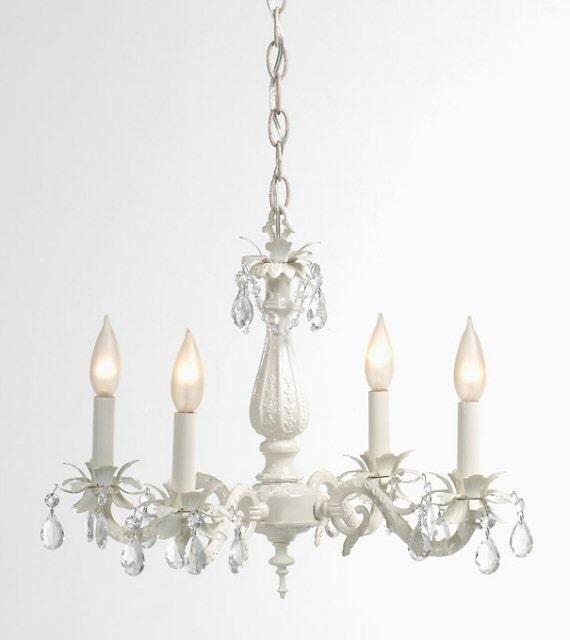 white cottage lighting chandelier shabby chic beach light fixture. Black Bedroom Furniture Sets. Home Design Ideas