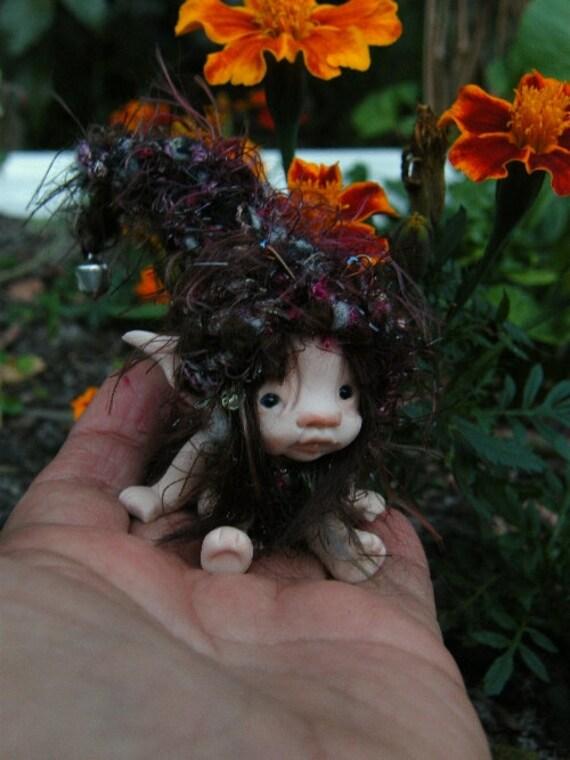 sweet tiny ooak full sculpt 2 inch fairy fairie bug