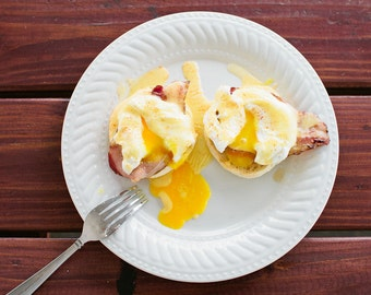 Eggs Benedict Food Photo Fine Art Print (8x10)