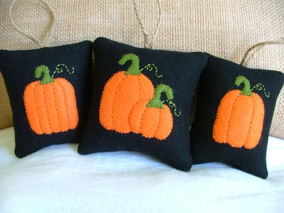 SALE - Autumn Halloween Decor Pumpkins set of 3