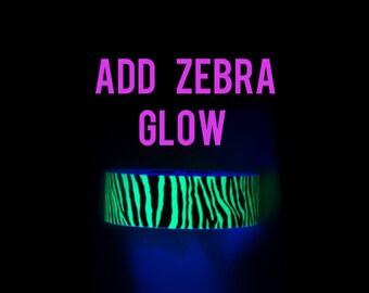 Add Zebra Print Glow in the Dark Tape - ADD ON for DanceHoop -Not sold separately-