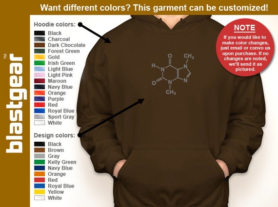 Chocolate Molecule funny hooded sweatshirt — Any color/Any size - Adult S, M, L, XL, 2XL, 3XL, 4XL, 5XL  Youth S, M, L, XL