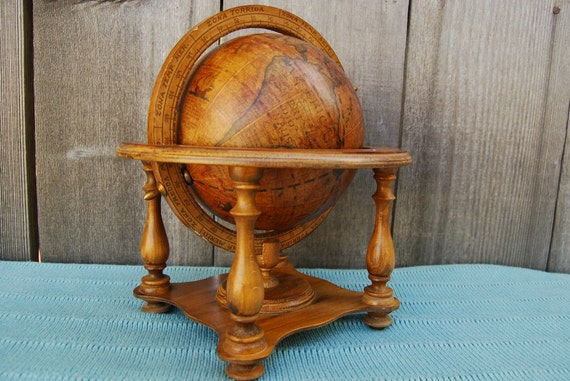 Vintage Old World Globe - Made in ITALY - Zodiac stand