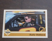 Vintage 1991 Rusty Wallace Collector Card