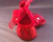Mary jane ballet crib shoes for baby girl, size large  FREE SHIPPING US