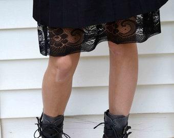 ONE SLIP LEFT! Modest Slip Extender- Long Black Lace
