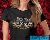 Twilight Eclipse Breaking Dawn Swirl Wolf Girl Shirt -- Choice of Unisex or Women 2XL
