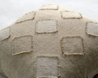 18x18 Linen Pillow Cover, Natural Linen Pillow Cover,  Decorative Pillow Cover, Home Decor Accessories, Button Closure Pillow Cover,