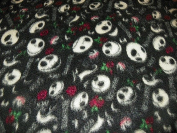 Nightmare Before Christmas Fleece Fabric by the Yard The Darkside